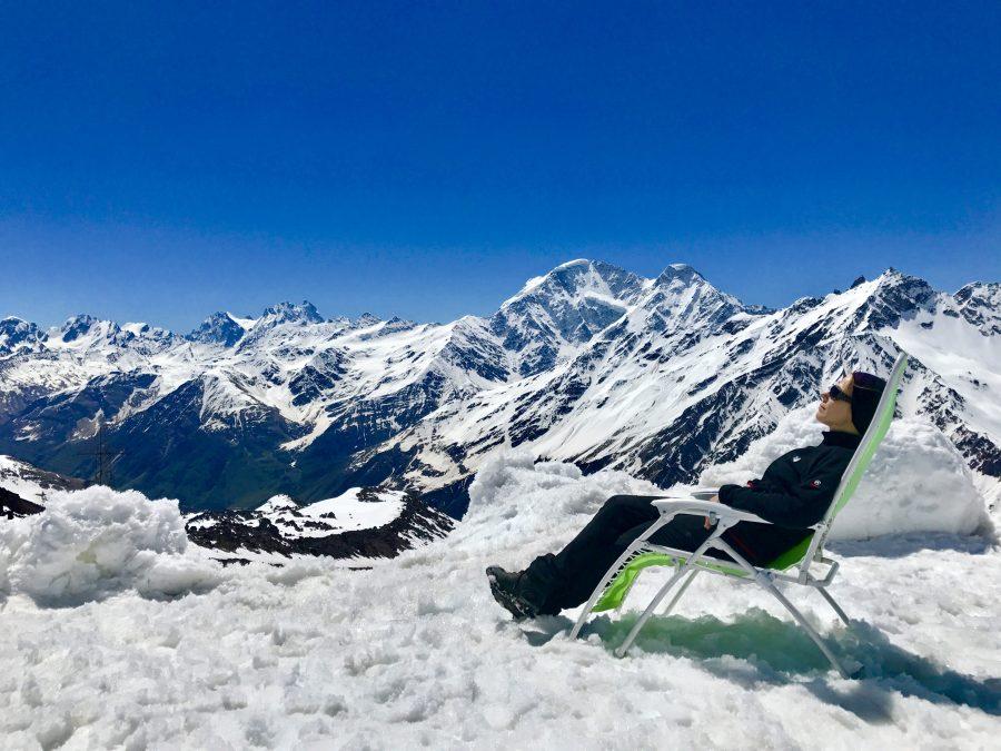 Janiina Kauppinen Mount Elbrusilla